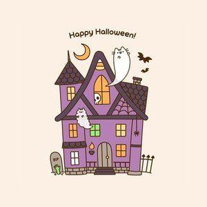 Halloween house iPhone case